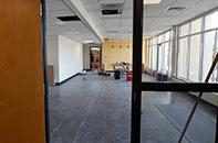 Interior construction, late January