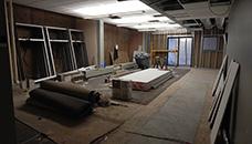 Interior construction, late November