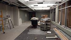 Interior construction, mid-December