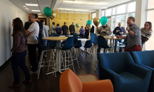 Department celebrates new community space with ice cream social