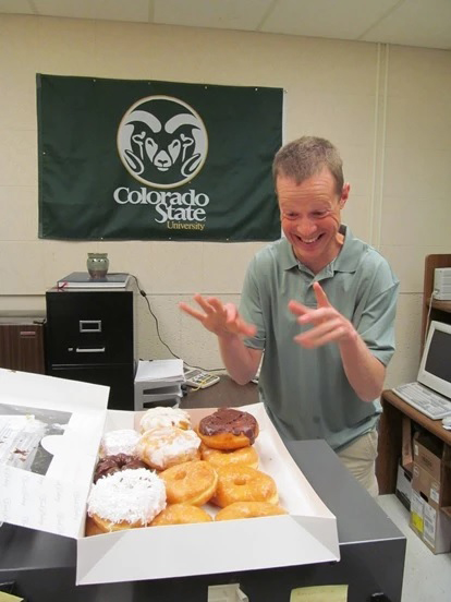 Phil with doughnuts