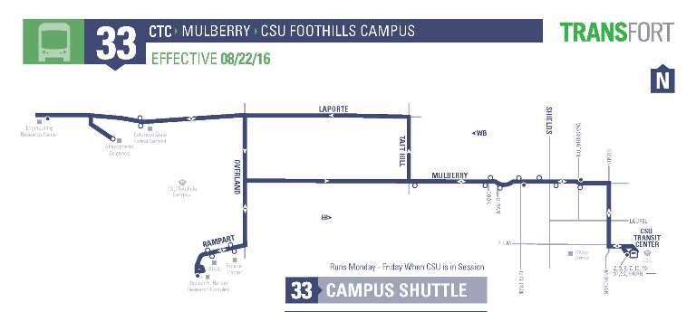 Bus Route 33 to Ats campus