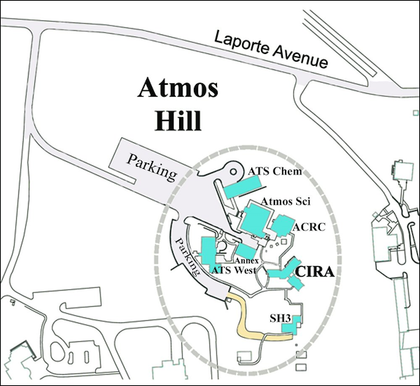 map of foothills campus
