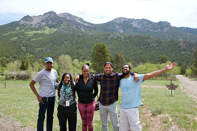 NCA&T students at RMNP