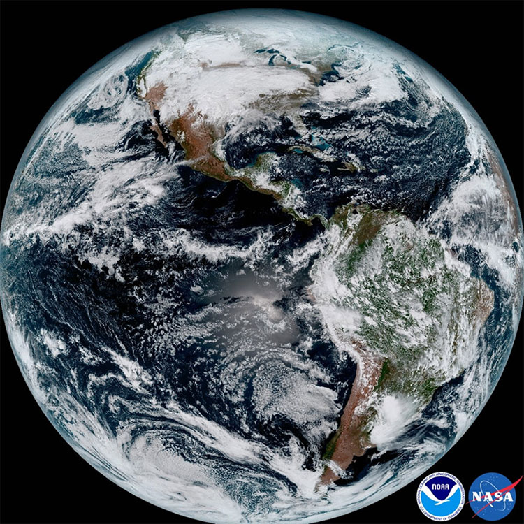 GOES-16 satellite image produced by CIRA