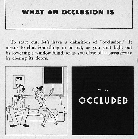 "Page from Navy pilot training manual ""The Occluded Fronts"""