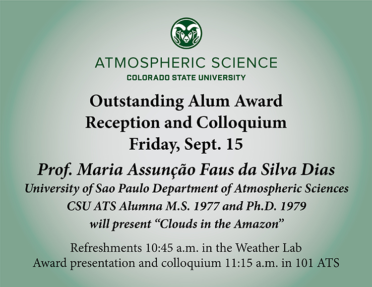 Outstanding Alum Award reception and colloquium announcement