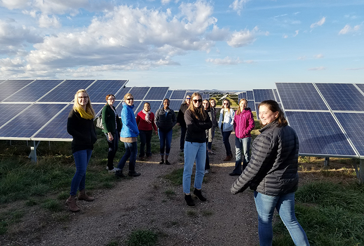 Recent PROGRESS networking event and tour at Christman Field solar plant.