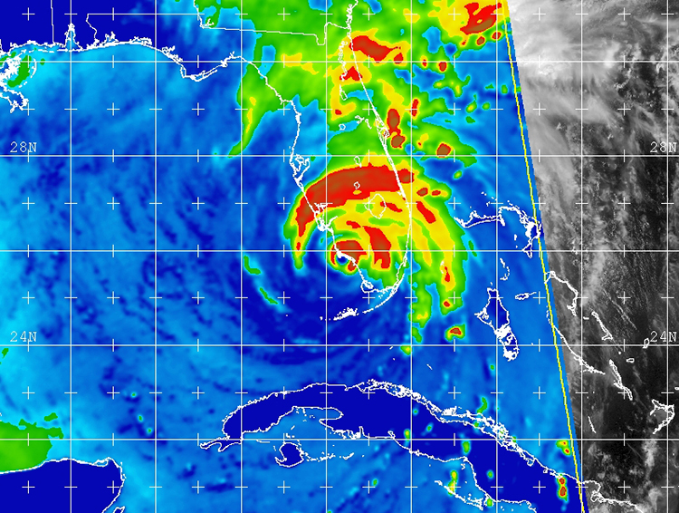 Microwave satellite image of Hurricane Irma