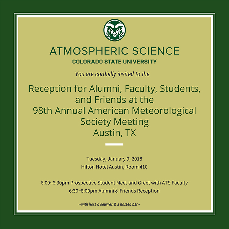 2018 AMS reception invitation