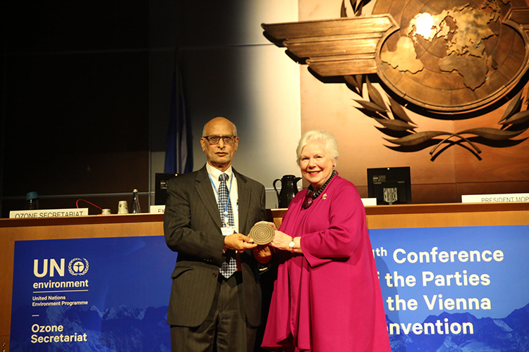A.R. Ravishankara receives UN award