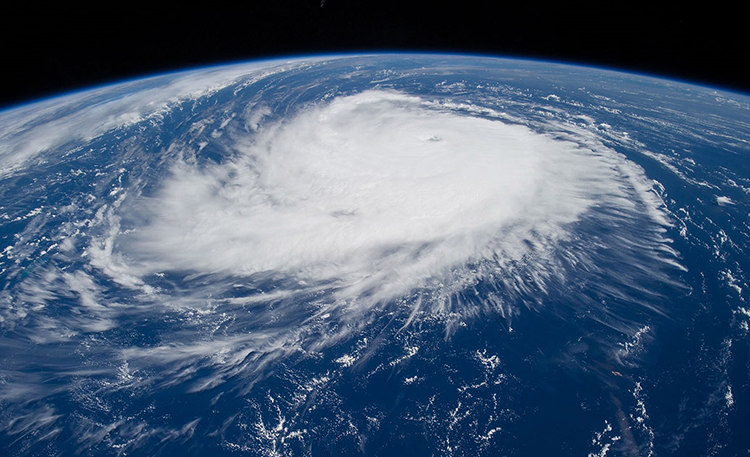 Satellite image of Hurricane Edouard