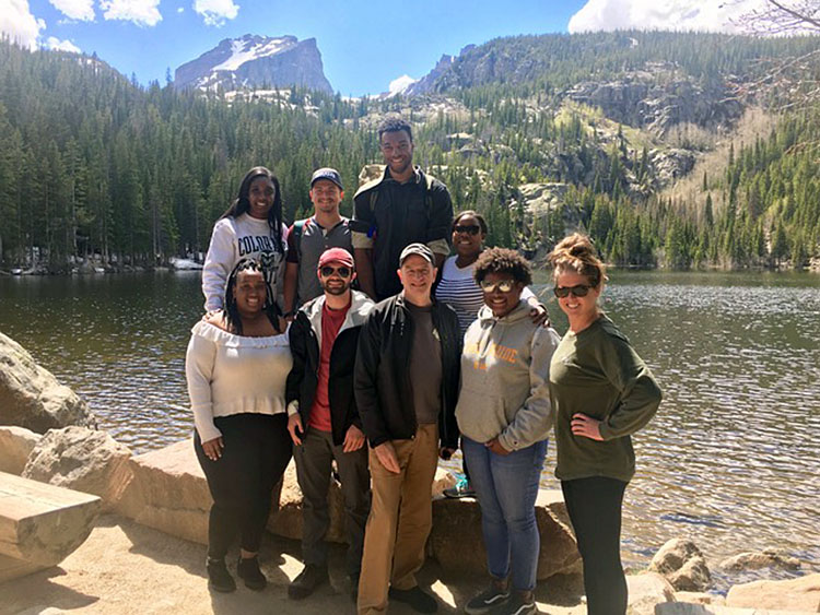 North Carolina A&T State University students at RMNP