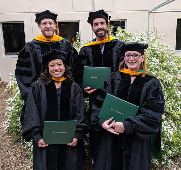 Spring 2018 Ph.D. graduates