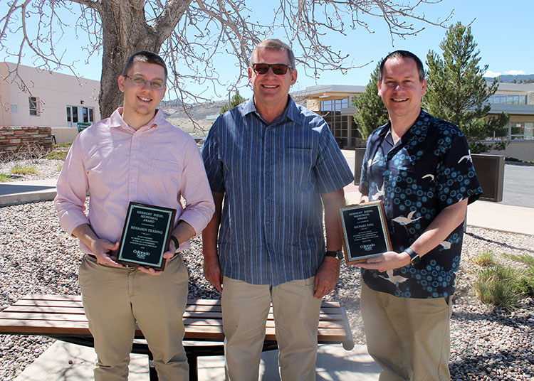 Herbert Riehl, Jr. and Riehl Award winners Kai-Chih Tseng and Michael Bell