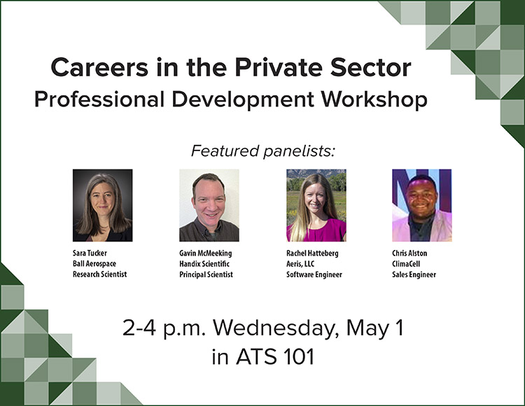 Private sector careers workshop flyer