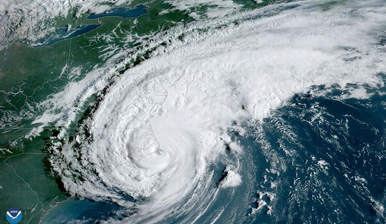 Hurricane Dorian satellite image