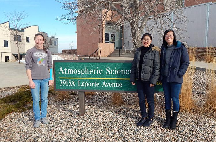 ASCENT winners Kathryn Moore, Rung Panasawatwong and Jingyuan Li