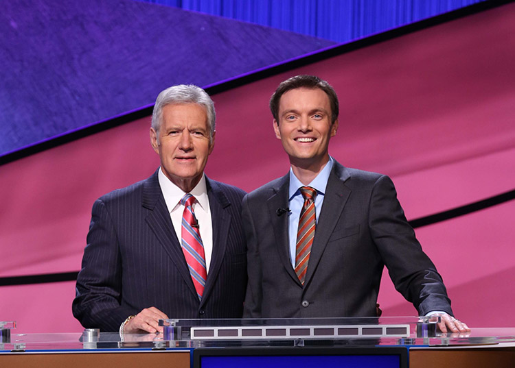 Russ Schumacher and Alex Trebek