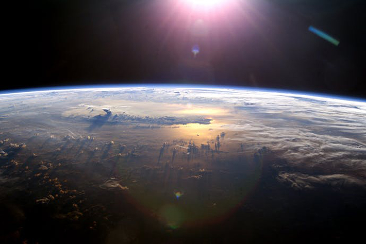 NASA image of Earth from International Space Station