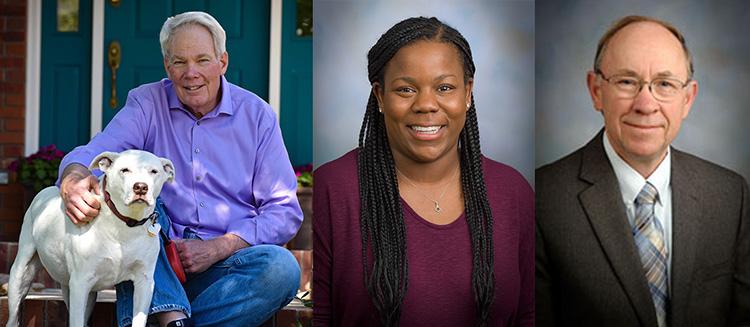 2022 AMS award winners Steven Rutledge, Melissa Burt and Richard Johnson