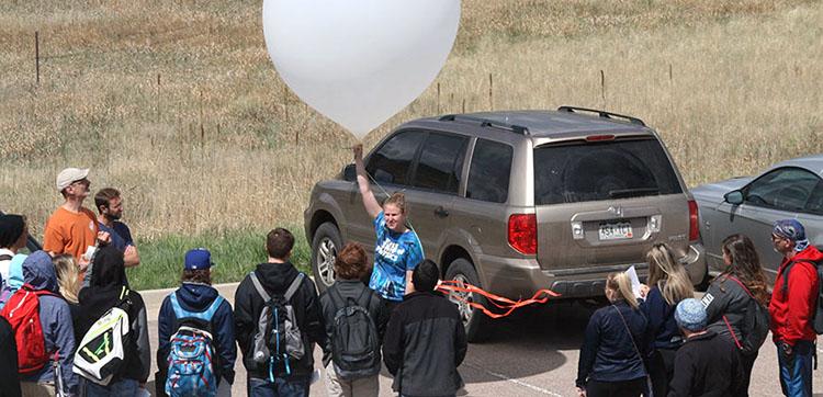 Weather balloon launch